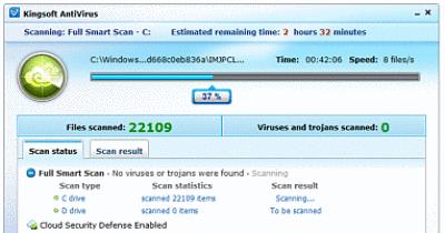 kingsoft antivirus en la nube