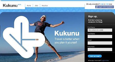 kukunu planificar online viajes vacaciones