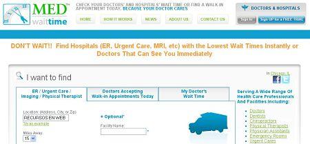 tiempo de espera citas medicas MedWaitTime