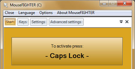 mousefighter manejar cursor