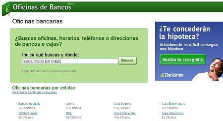 Oficinasdebancos bancos cajas oficicinas telefonos horarios