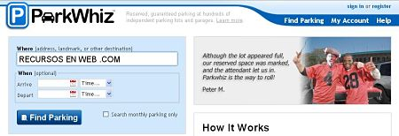 ParkWhiz alquilar parking online