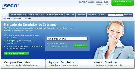 sedo comprar vender dominios web