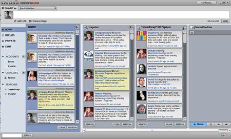 Seesmic Desktop facebook twitter