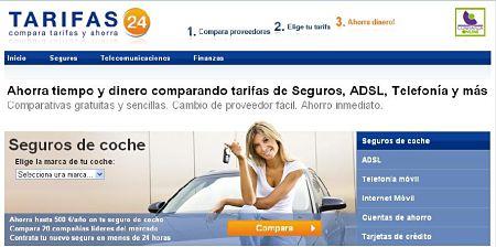 tarifas24 comprar seguros coche adsl telefonia finanzas