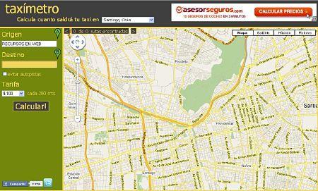 taximetro calcular precio viaje taxi