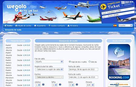 Wegolo vuelos baratos bajo coste low cost