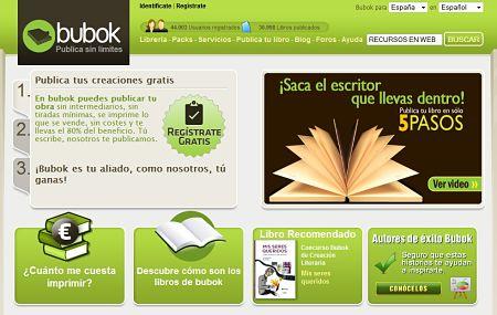 Bubok publicar vender libros