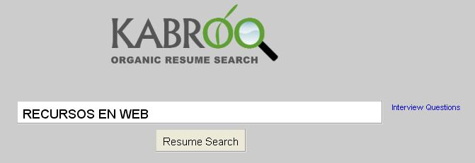buscar curriculums vitae Kabroo