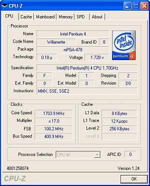 CPU-Z hardware pc