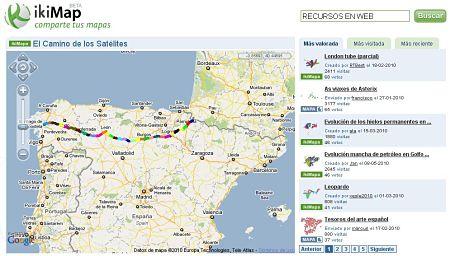 iKiMap compartir mapas cartografia