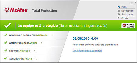 McAfee Total Protection descargar
