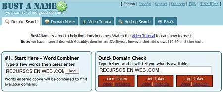 nombre dominio Bust a Name
