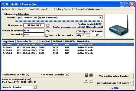 Simple Port Forwarding abrir puertos router