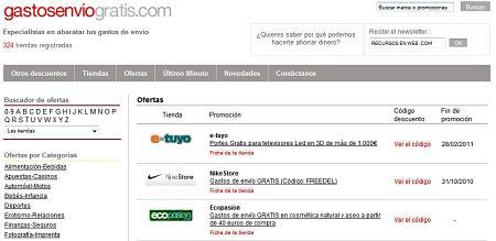 Gastosenviogratis.com tiendas online gastos envio gratis