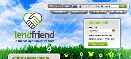 LendFriend pedir prestar dinero