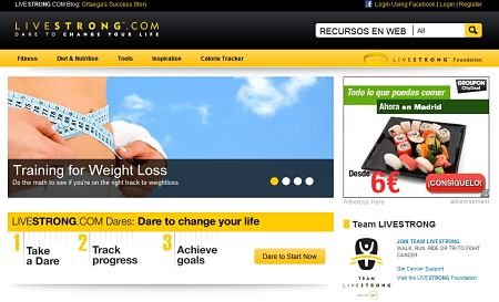 LiveStrong red social lance armstrong