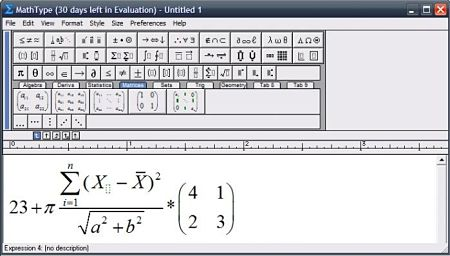 MathType ecucaciones formulas matematicas office