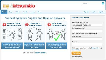 MyIntercambio aprender idiomas