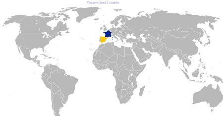 paises visitados viajes