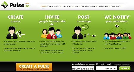 Pulse.to enviar sms gratis