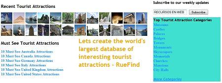 RueFind atracciones turisticas