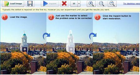 WebInPaint eliminar objetos fotos