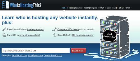 WhoisHostingThis saber hosting pagina web