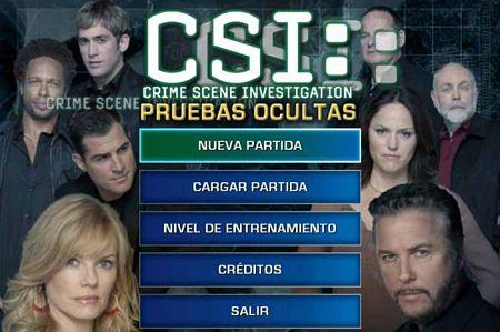 CSI Pruebas Ocultas juego
