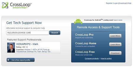 CrossLoop conectar dos ordenadores