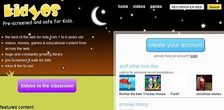 Kidyos recursos web niños
