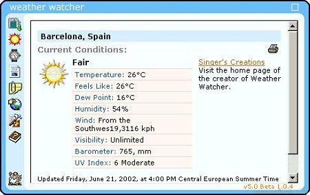 Weather Watcher tiempo
