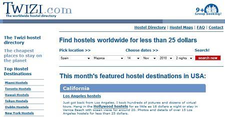 Twizi.com hostales albergues baratos