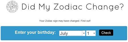 Did My Zodiac Change?