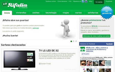 Rifalia sorteos y rifas online for Animas room valencia