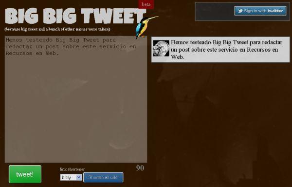 Big Big Tweet