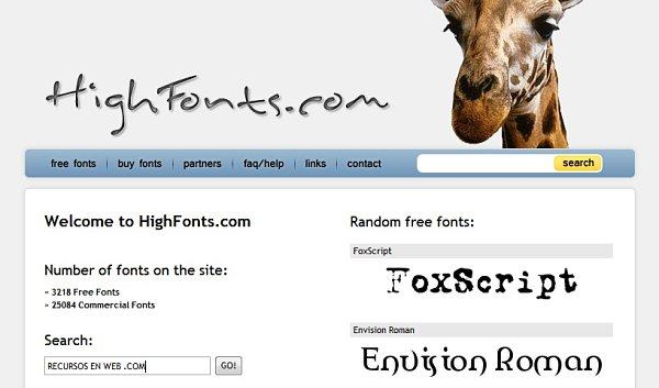 High Fonts