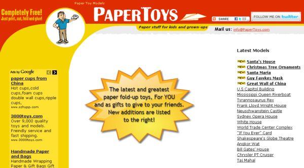 PaperToys recortables papel