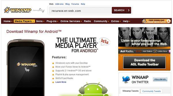 Winamp para Android