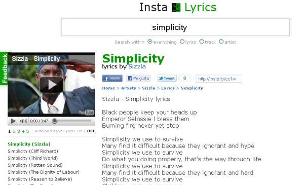 InstaLyrics letras canciones