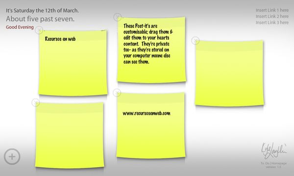 ToDoHomepage anotaciones post-it