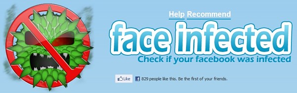 Face Infected antivirus facebook