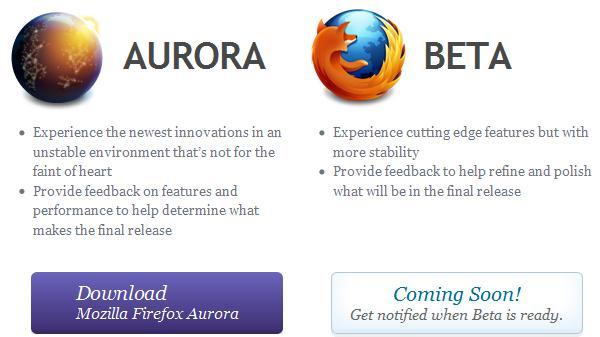 Firefox 5 Aurora