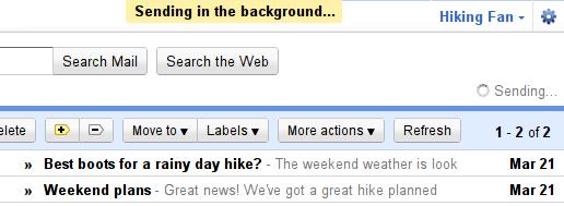 Gmail ya permite enviar correos en segundo plano