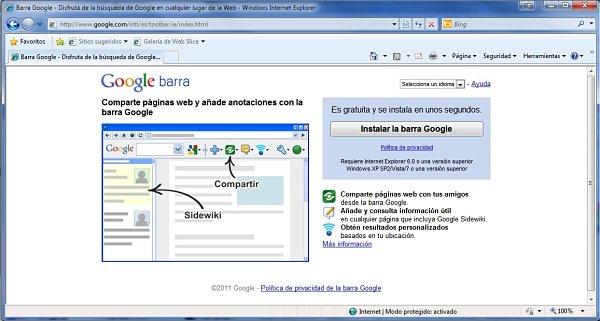 Google Toolbar 7, la nueva versión de la barra de herramientas de Google para Internet Explorer