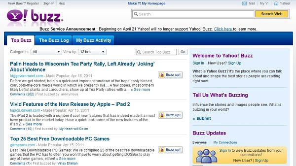 Yahoo Buzz también echa el cierre