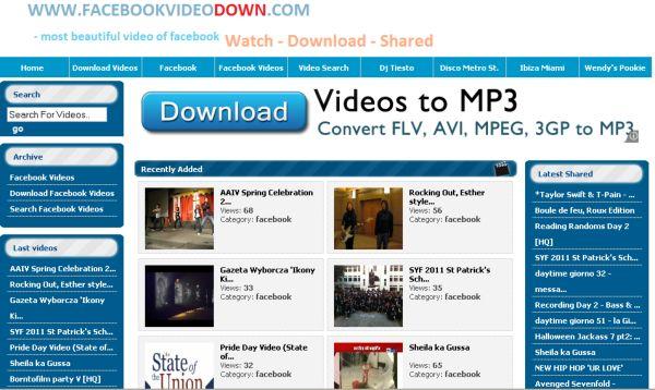 Facebook Video Down
