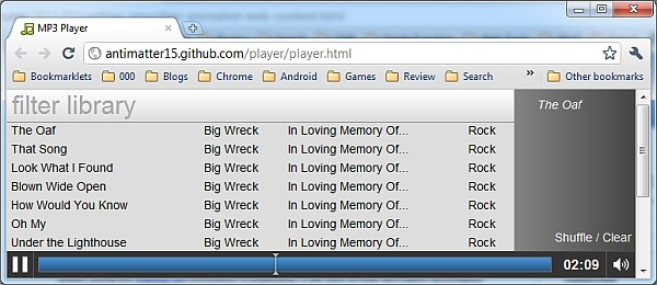 HTML5 MP3 Player