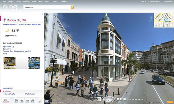 Bing StreetSide