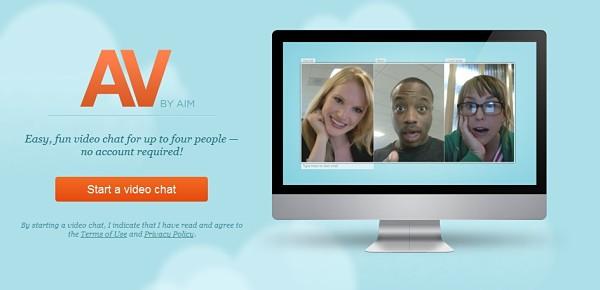 AOL lanza AV, un servicio de videochat en Flash